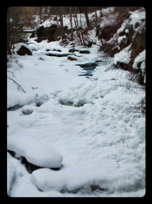 Ice and snow on the creek