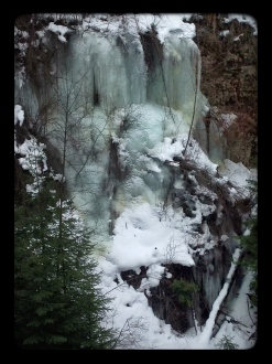 ice along the canyon walls