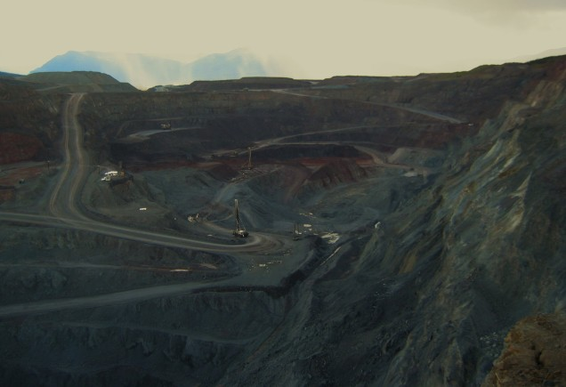 Open pit copper and gold mine