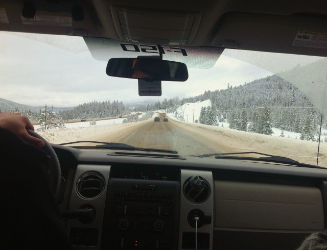 The Coquihalla from the back seat driver