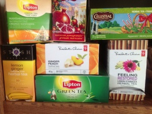 My tea selection at work